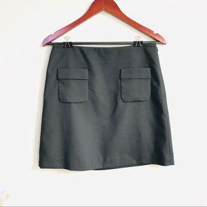 Loft A-line pockets skirt in black